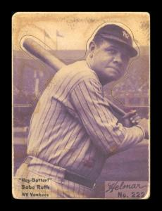Picture of Helmar Brewing Baseball Card of Babe RUTH (HOF), card number 222 from series R318-Helmar Hey-Batter!