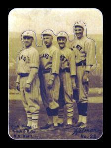 Picture of Helmar Brewing Baseball Card of Frank FRISCH (HOF), card number 22 from series R318-Helmar Hey-Batter!