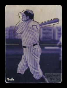 Picture of Helmar Brewing Baseball Card of Babe RUTH (HOF), card number 36 from series R318-Helmar Hey-Batter!