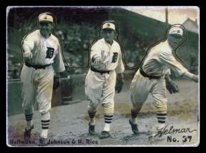 Picture of Helmar Brewing Baseball Card of Harry HEILMANN (HOF), card number 37 from series R318-Helmar Hey-Batter!