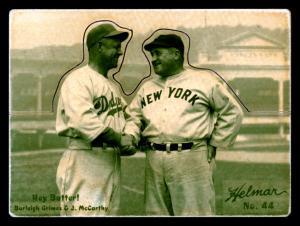 Picture of Helmar Brewing Baseball Card of Burleigh GRIMES (HOF), card number 44 from series R318-Helmar Hey-Batter!
