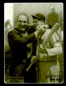 Picture of Helmar Brewing Baseball Card of Jimmie FOXX, card number 46 from series R318-Helmar Hey-Batter!