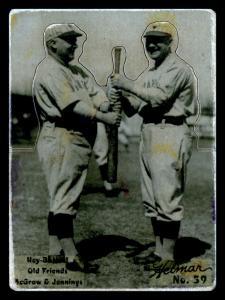 Picture of Helmar Brewing Baseball Card of Hughie JENNINGS (HOF), card number 59 from series R318-Helmar Hey-Batter!