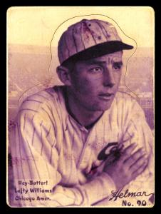 Picture of Helmar Brewing Baseball Card of Lefty Williams, card number 90 from series R318-Helmar Hey-Batter!