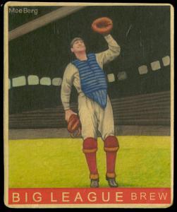 Picture of Helmar Brewing Baseball Card of Moe Berg, card number 108 from series R319-Helmar Big League