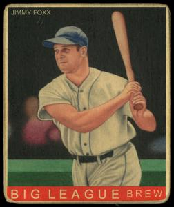 Picture of Helmar Brewing Baseball Card of Jimmie FOXX, card number 128 from series R319-Helmar Big League