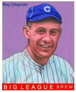 Picture of Helmar Brewing Baseball Card of Ray Chapman, card number 130 from series R319-Helmar Big League