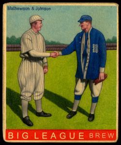 Picture of Helmar Brewing Baseball Card of Christy MATHEWSON (HOF), card number 136 from series R319-Helmar Big League
