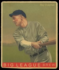 Picture of Helmar Brewing Baseball Card of Ray Chapman, card number 161 from series R319-Helmar Big League
