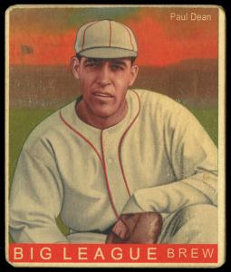 Picture of Helmar Brewing Baseball Card of Daffy Dean, card number 163 from series R319-Helmar Big League