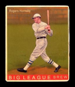 Picture of Helmar Brewing Baseball Card of Rogers HORNSBY (HOF), card number 165 from series R319-Helmar Big League