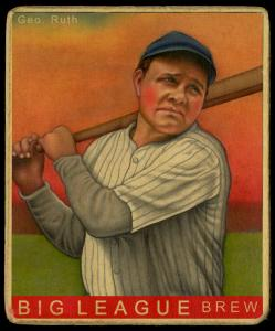 Picture of Helmar Brewing Baseball Card of Babe RUTH (HOF), card number 175 from series R319-Helmar Big League