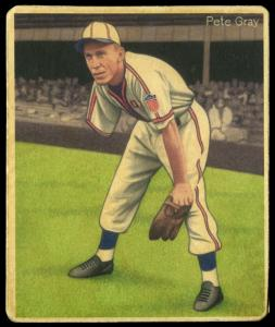 Picture of Helmar Brewing Baseball Card of Pete Gray, card number 194 from series R319-Helmar Big League