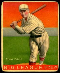 Picture of Helmar Brewing Baseball Card of Frank FRISCH (HOF), card number 19 from series R319-Helmar Big League