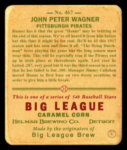 Picture, Helmar Brewing, R319-Helmar Card # 240, Hans WAGNER (HOF); Pie TRAYNOR (HOF);, Dugout, Pittsburgh Pirates