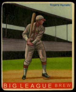 Picture of Helmar Brewing Baseball Card of Rogers HORNSBY (HOF), card number 242 from series R319-Helmar Big League