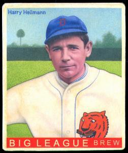 Picture of Helmar Brewing Baseball Card of Harry HEILMANN (HOF), card number 258 from series R319-Helmar Big League