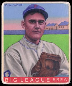 Picture of Helmar Brewing Baseball Card of Babe Adams, card number 313 from series R319-Helmar Big League