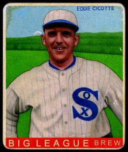 Picture of Helmar Brewing Baseball Card of Eddie Cicotte, card number 314 from series R319-Helmar Big League