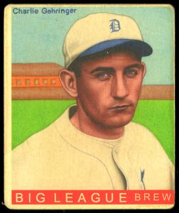 Picture of Helmar Brewing Baseball Card of Charlie GEHRINGER, card number 364 from series R319-Helmar Big League