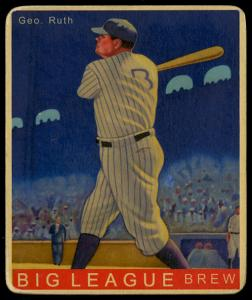 Picture of Helmar Brewing Baseball Card of Babe RUTH (HOF), card number 36 from series R319-Helmar Big League
