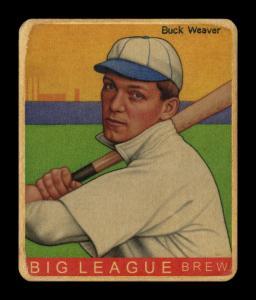 Picture of Helmar Brewing Baseball Card of Buck Weaver, card number 416 from series R319-Helmar Big League