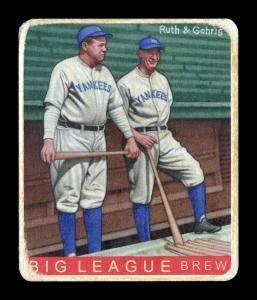 Picture of Helmar Brewing Baseball Card of Babe RUTH (HOF), card number 439 from series R319-Helmar Big League