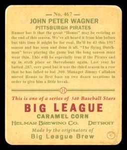Picture, Helmar Brewing, R319-Helmar Card # 467, Honus WAGNER (HOF), Kneeling with Bat, Pittsburgh Pirates