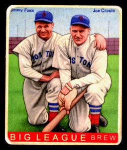 Picture of Helmar Brewing Baseball Card of Jimmie FOXX, card number 481 from series R319-Helmar Big League