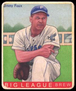 Picture of Helmar Brewing Baseball Card of Jimmie FOXX, card number 492 from series R319-Helmar Big League
