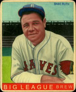 Picture of Helmar Brewing Baseball Card of Babe RUTH (HOF), card number 49 from series R319-Helmar Big League