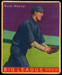 Picture of Helmar Brewing Baseball Card of Buck Weaver, card number 75 from series R319-Helmar Big League