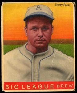 Picture of Helmar Brewing Baseball Card of Jimmie FOXX, card number 80 from series R319-Helmar Big League