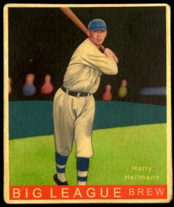 Picture of Helmar Brewing Baseball Card of Harry HEILMANN (HOF), card number 92 from series R319-Helmar Big League