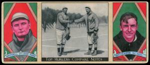 Picture of Helmar Brewing Baseball Card of Christy MATHEWSON (HOF), card number 12 from series T202-Helmar