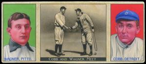 Picture, Helmar Brewing, T202-Helmar Card # 1, Honus WAGNER; Ty COBB;, Cobb and Wagner Meet, Multiple
