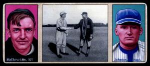 Picture of Helmar Brewing Baseball Card of Christy MATHEWSON (HOF), card number 7 from series T202-Helmar