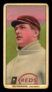 Picture of Helmar Brewing Baseball Card of Christy MATHEWSON (HOF), card number 222 from series T206-Helmar