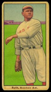 Picture of Helmar Brewing Baseball Card of Babe RUTH (HOF), card number 409 from series T206-Helmar
