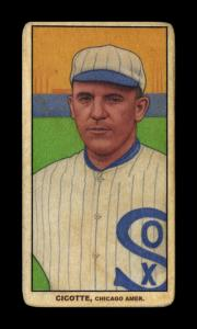 Picture of Helmar Brewing Baseball Card of Eddie Cicotte, card number 424 from series T206-Helmar