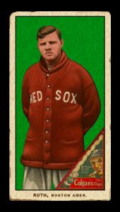 Picture of Helmar Brewing Baseball Card of Babe RUTH (HOF), card number 48 from series T206-Helmar