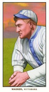 Picture of Helmar Brewing Baseball Card of Honus WAGNER (HOF), card number 56 from series T206-Helmar