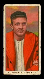 Picture of Helmar Brewing Baseball Card of Christy MATHEWSON (HOF), card number 58 from series T206-Helmar