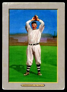 Picture of Helmar Brewing Baseball Card of Christy MATHEWSON (HOF), card number 34 from series T3-Helmar