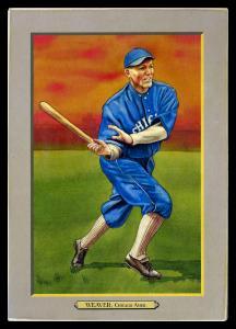 Picture of Helmar Brewing Baseball Card of Buck Weaver, card number 46 from series T3-Helmar