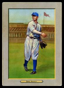 Picture of Helmar Brewing Baseball Card of Moe Berg, card number 78 from series T3-Helmar