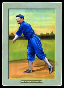 Picture of Helmar Brewing Baseball Card of Bill Burns, card number 96 from series T3-Helmar